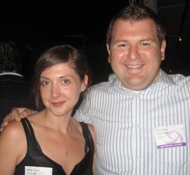 Alexia Tsotsis (LA Weekly) and Tony Adam (Yahoo!)